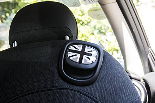 - LVBAO Seat Handle Decal Cover Sticker Trim Caps for Mini Cooper ONE/S/JCW F55 Hardtop F56 Hatchback F57 Covertible (7)