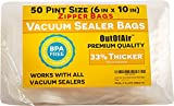 Best Fresh Vacuum Sealer Bags - 50 Zipper Vacuum Sealer Bags: Pint Size Review