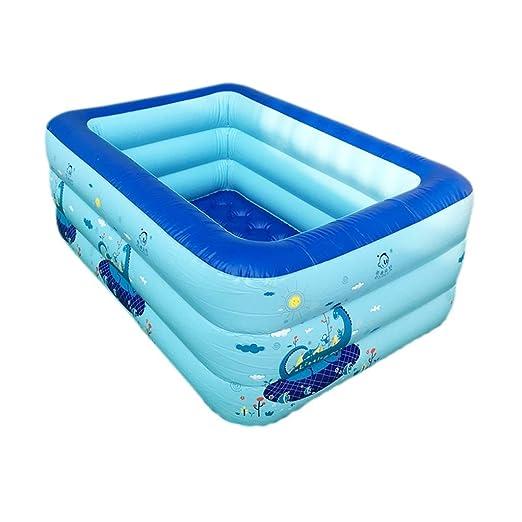 QAHCQ Bañera Inflable para niños, bañera de hidromasaje ...