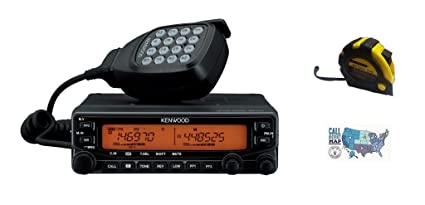 Bundle - 3 Items - Includes Kenwood TM-V71A Mobile Radio, 2m/70cm, 50W with  The New Radiowavz Antenna Tape (2m - 30m) and HAM Guides Quick Reference