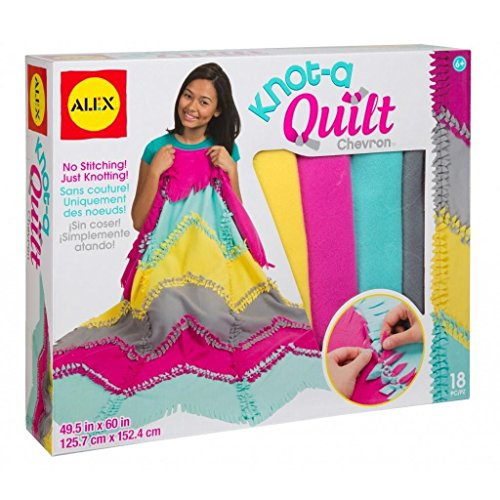 Alex toys craft knot a quilt chevron kit import it all for Alex co amazon
