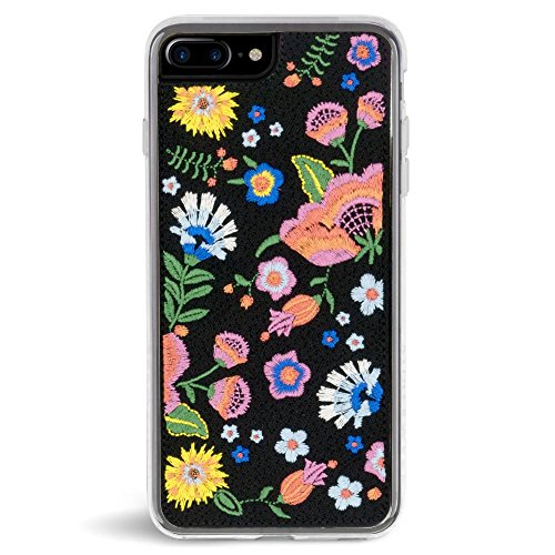 Case Phone Embroidered (Zero Gravity Case Compatible with iPhone 7 Plus/8 Plus Embroidered - Multicolored Floral Series Design - 360° Protection, Drop Test Approved (Marie))