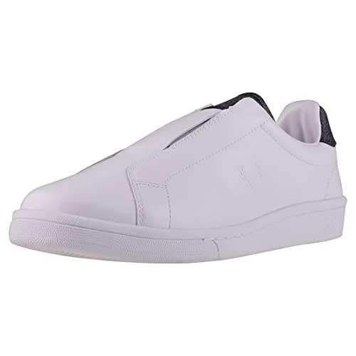 Fred Perry B721 Premium Elastic Unisexo Zapatillas sin Cordones White Black - 5 UK: Amazon.es: Zapatos y complementos