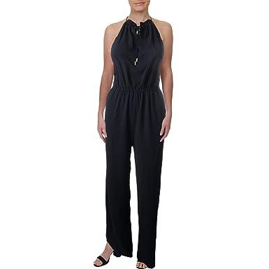 48d4664800a3 Amazon.com  Juicy Couture Black Label Womens Lace Back Wide Leg Jumpsuit  Navy S  Clothing