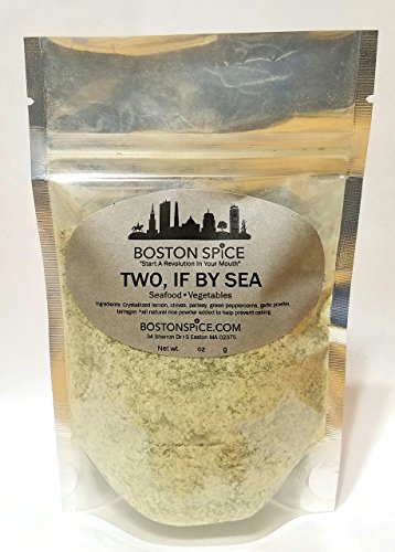 (Boston Spice Two If By Sea Gourmet Seafood Fish Shellfish Dry Scallops Seasoning Blend Grilling Barbecue Baked Smoker Shrimp Cod Bass (Approx. 1/4 Cup of Spice) )
