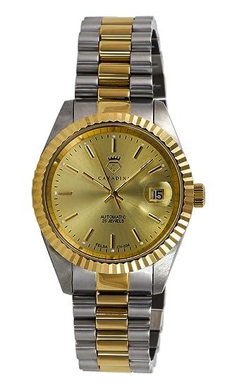 Massiv Cv Schweizer 334 Armbanduhr Leonardo Mit Edelstahl Automatik Cavadini Herren Uhrwerk nwPkX80O