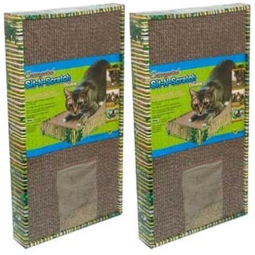 (2 Pack) Ware ManufaCounturing CWM12015 Sit-N-Scratch Double Corrugated Scratcher