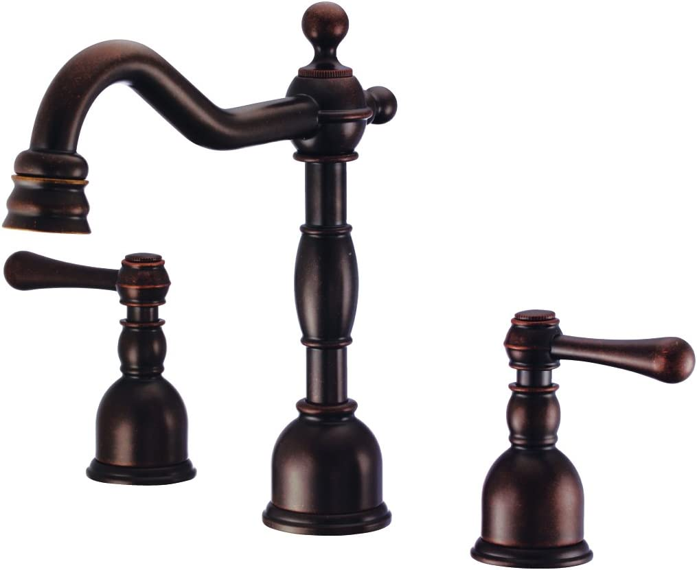 Danze D303157BR Opulence Widespread Bathroom Faucet with Metal Touch Down Drain, Tumbled Bronze