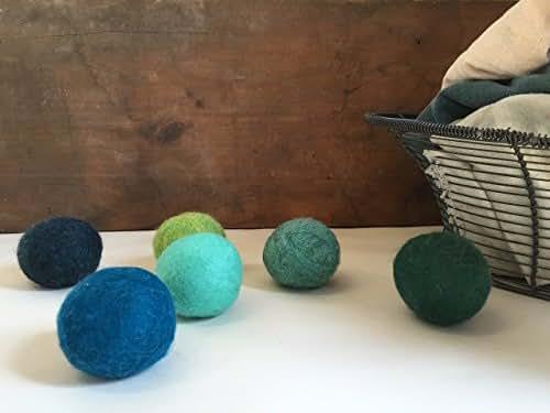 Trees and Seas Wool Dryer Balls ( set of 6 )