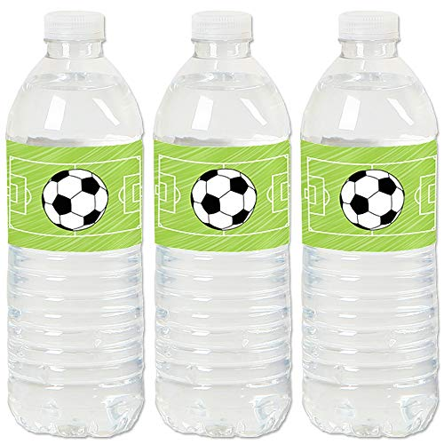 GOAAAL! - Soccer - Baby Shower or Birthday Party Water Bottle Sticker Labels - Set of ()