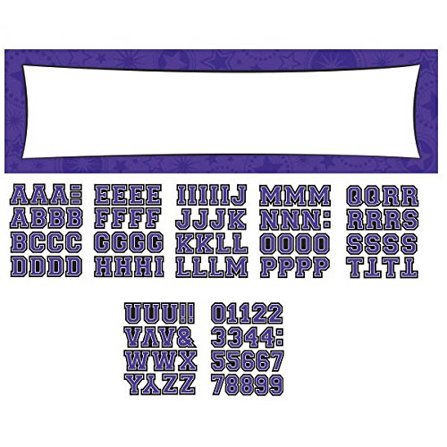 Amscan Pretty Customizable Giant Party Sign Banner Decoration Supplies , Purple, 1452 Pieces by Amscan