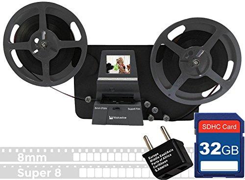 Price comparison product image Wolverine 8mm & Super 8mm Reels to Digital MovieMaker Pro Film Digitizer,  Film Scanner,  32GB SD Memory Card