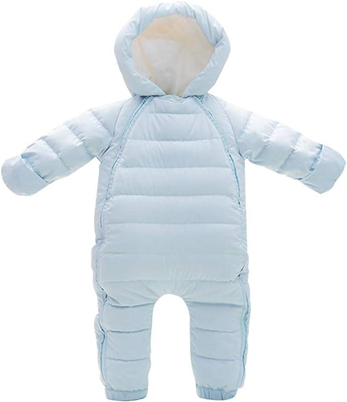 Baby Winter Schneeanzug Kleinkind Einteiliger Overall mit Handschuhen Strampler Jungen M/ädchen Outfits