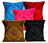 5Pcs-100Pcs Amazing India Multi Color Mirrorwork Traditional Cushion Covers Wholesale Lot
