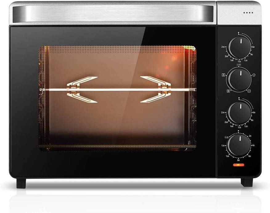 CMmin Multi-function Oven,Countertop Smart Ovens,Various Cooking Functions,Adjustable Temperature Control and Timer,1600W,Silver(455350340mm)