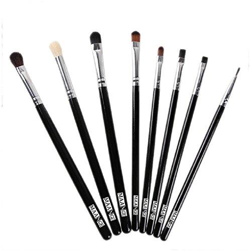 Makeup Brush , Sandistore Makeup brushes Blend Shadow Angled Eyeliner Smoked Bloom Eye Brushes Set (Bloom Cosmetics Eye Paints)