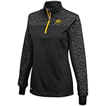 "Iowa Hawkeyes Women's NCAA ""Burst"" 1/4 Zip Pullover Sweatshirt"