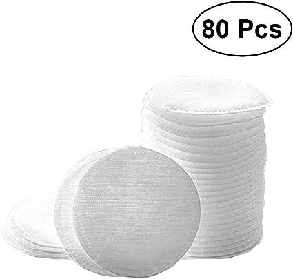 Frcolor 80pcs almohadillas redondas de algodón removedor de ...