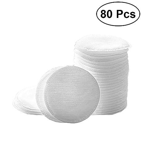 Frcolor - 80 toallas de algodón redondas para quitar maquillaje, toallitas limpiadoras faciales para el