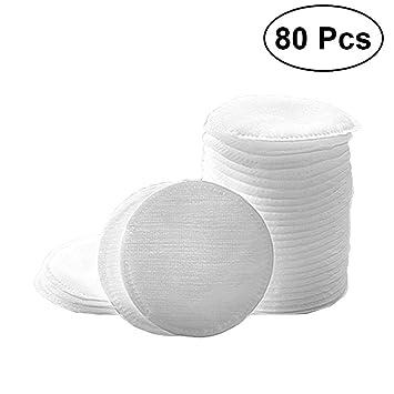 Frcolor - 80 toallas de algodón redondas para quitar maquillaje, toallitas limpiadoras faciales para el cuidado de la piel: Amazon.es: Belleza
