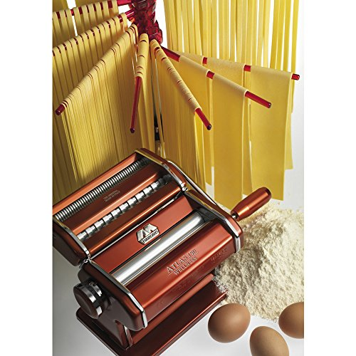 Marcato Atlas Pasta Machine, Made in Italy, Red, Includes Pasta Cutter, Hand Crank, and Instructions by Marcato (Image #2)