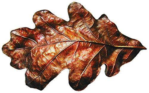 Notting Hill Decorative Hardware NHBP-844-BHT Oak Leaf Bin Pull Hand-Tinted Brass Oak Leaf Bin Hand-Tinted Pull, Brass