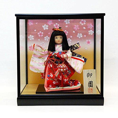 8号 市松人形 ケース入り 御園 童人形    B00OH39HI2