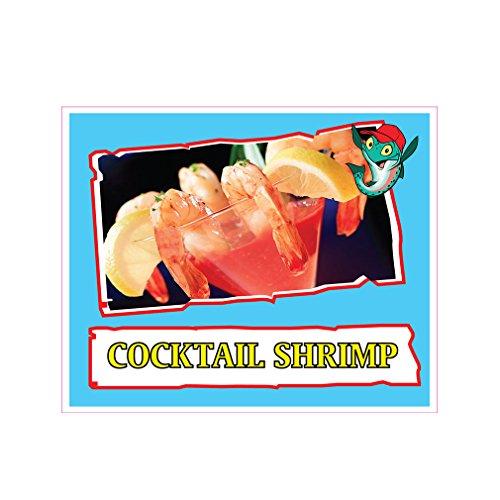 Cocktail Shrimp Concession Restaurant Die-Cut Window Stat...