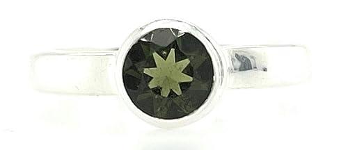 Silver Jewelry Raw Moldavite Gemstone Raw Moldavite Gemstone Ring in Sterling Silver Gift For Her  Green Moldavite Ring  Handmade Ring