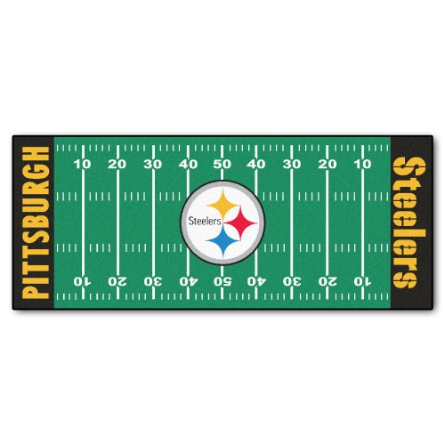 (FANMATS NFL Pittsburgh Steelers Nylon Face Football Field Runner)