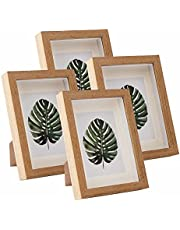 5x7 Picture Frame Cadre Photo Frames Made of Solid Wood and Real Glass Display Pictures 3.3x4.9 with Mat or 5x7 Without Mat for Wall Or Tabletop