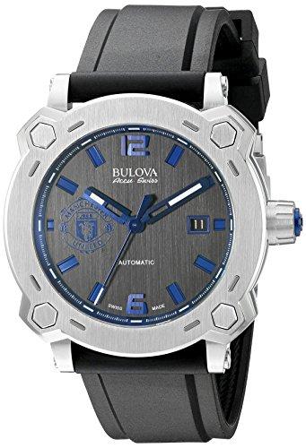 Bulova Men's 63B189 Percheron Analog Display Swiss Automatic Black Watch -