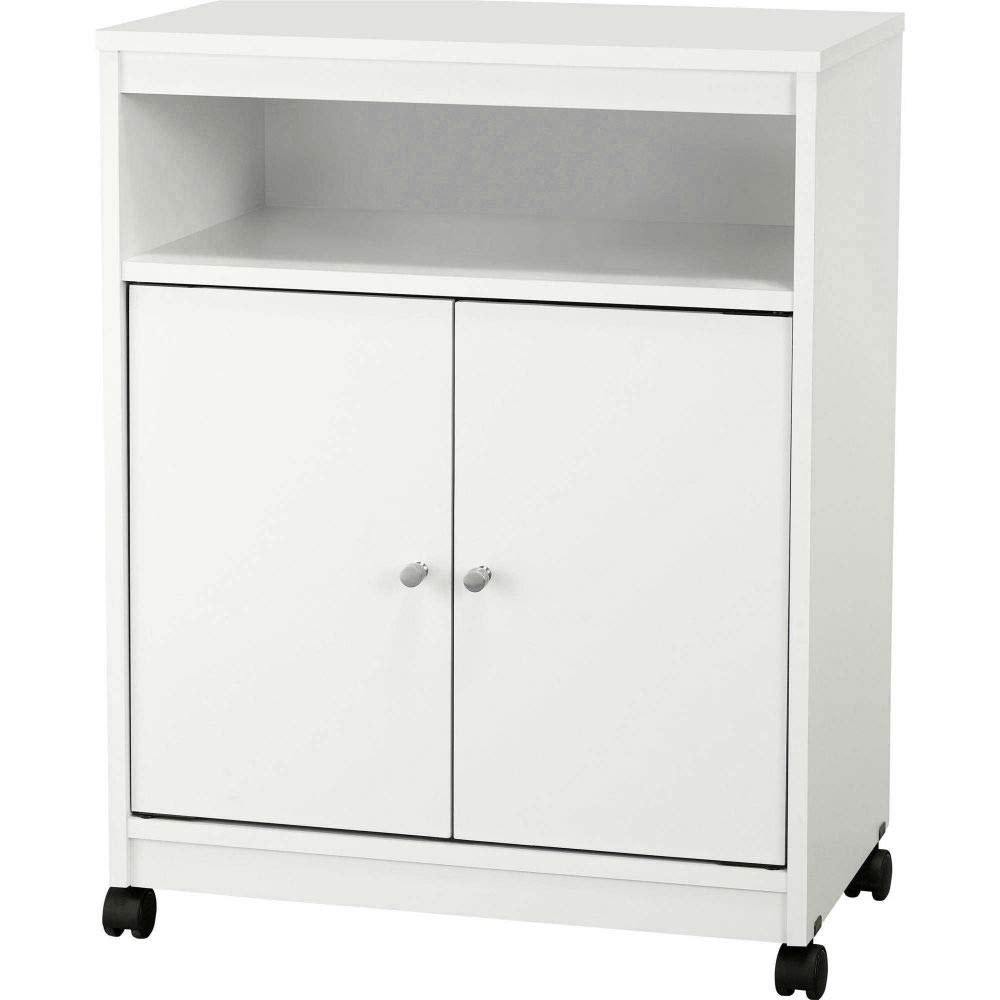 Sideboard Buffet with 2 Doors Wood Storage Floor Hall Cabinet White Portable Entryway Cabinet & e-Book by jn.widetrade.