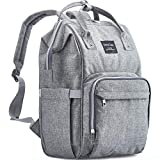 Diaper Bag Backpack, KiddyCare Multi-Function Baby Bag, Maternity Nappy Bags for Travel, Large Capacity, Waterproof, Durable and Stylish for mom & dad, Gray
