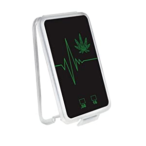 Slim Shatter Plastic Container - Packs Wax Concentrate   EKG & Leaf Fusion Design   (100 Pack) (Black)