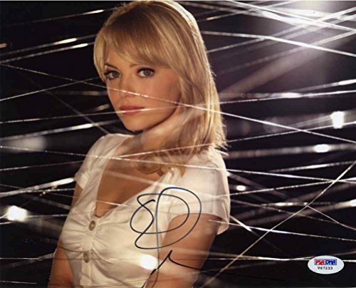 Emma Stone Spiderman Signed 8x10 Photo Certified Authentic PSA/DNA COA