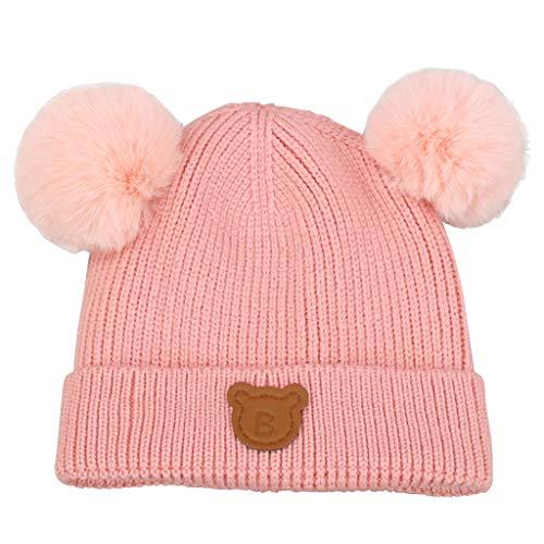 4d7d794106c Gogokids Baby Boys Girls Bobble Beanie Hat Warm Winter Pompom Skull Cap