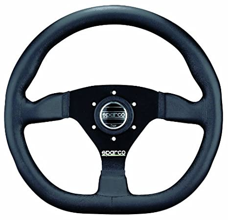 Amazon.com: Sparco 015TRGL1TUV volante de piel: Automotive