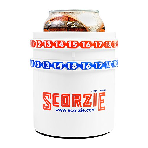 Score Keeper, Can Cooler - Scorzie the Only Cola/Beer Sleeve That Keeps Score - Perfect for Lawn Games Including Kan Jam Corn Hole Poleish Horseshoes and Your Child's Soccer or Baseball Games by Scorzie