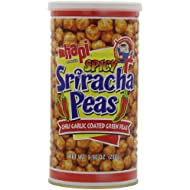 Hapi Spicy Sriracha Peas, Chili garlic Coated Gren Peas, 9.9-Ounce (Pack of 3)