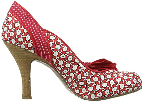 Ruby Shoo Millie Rosso Bianco Donna Hi Heels Court Scarpe