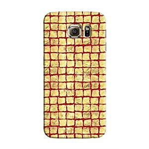 Cover It Up - Gold Red Break Mosaic Galaxy S6 Edge Hard Case