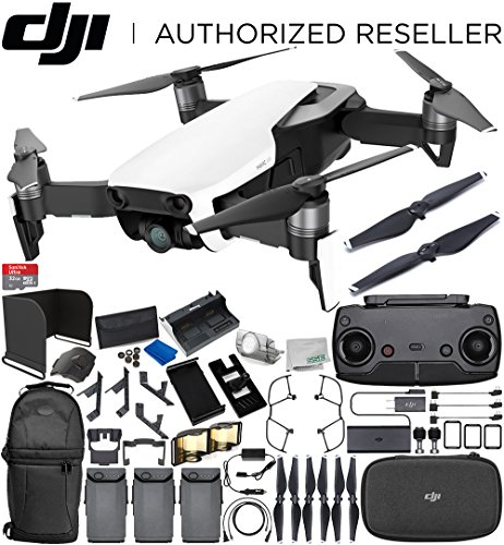 DJI Mavic Air Drone Quadcopter (Arctic White) 3-Battery Ultimate Bundle