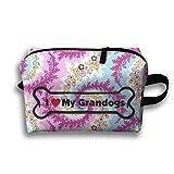 I Love My Granddog Travel Bag Multifunction Portable Toiletry Bag Organizer Storage