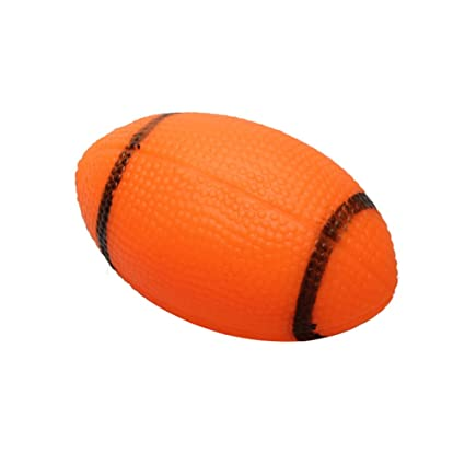 Buy Foodie Puppies Rubber Colorful Rugby Ball Squeaky Toy For Dogs