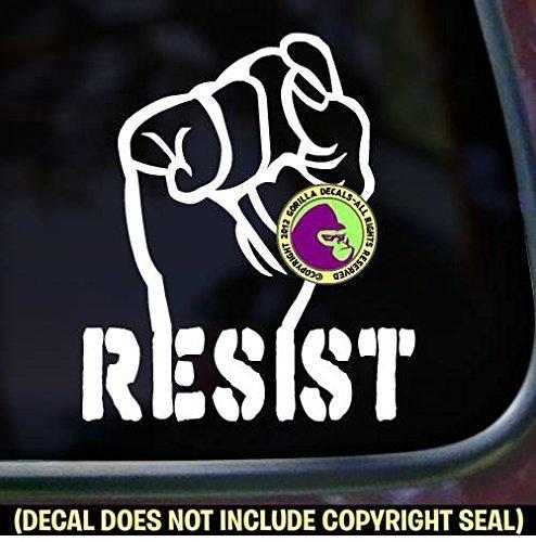 RESIST Fist Resistance PICK COLOR & SIZE Vinyl Decal Sticker A