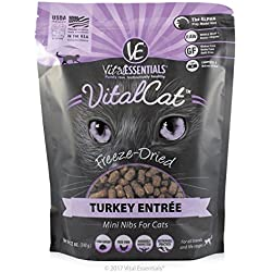 Vital Essentials Freeze-Dried Turkey Cat Entree Freeze Dried Cat Food (Fast Free Delivery)