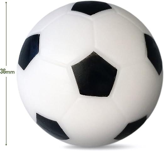 Futbolín Mesa Repuesto foosballs- 14 unidades – 36 mm mesa de juego Tamaño – color negro y blanco de mesa pelotas de fútbol: Amazon.es: Deportes y aire libre