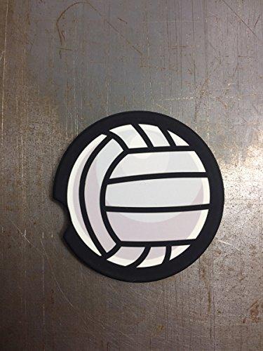 Sports Car Coasters - Set of 2 - VolleyBall Pattern, Car Accessories, Custom Car Coaster, Sandstone Coaster
