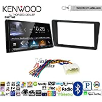 Volunteer Audio Kenwood DMX7704S Double Din Radio Install Kit with Apple CarPlay Android Auto Bluetooth Fits 2001-2005 Honda Civic